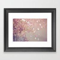 Retro Flowers Framed Art Print