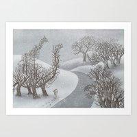 The Night Gardener - Winter Park  Art Print