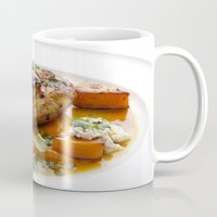 Baby chicken with pumpkin,cottage cheese and coriander pesto Mug