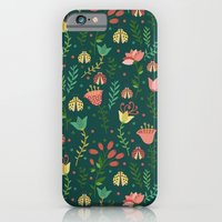 floral pattern iPhone & iPod Cases featuring Floral pattern by Julia Badeeva