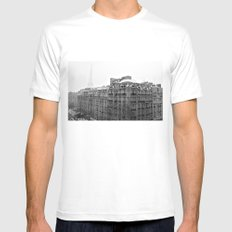 Paris Snow SMALL Mens Fitted Tee White