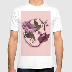 convolvulus and tile Mens Fitted Tee SMALL White
