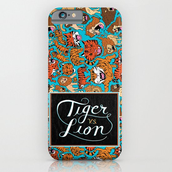Tiger VS. Lion iPhone & iPod Case
