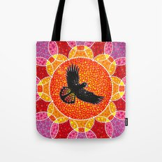 Flight of the Black Cockatoo Tote Bag