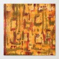 Orange landscape Canvas Print