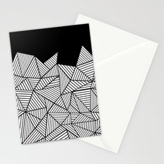 Abstraction Mountain Stationery Cards