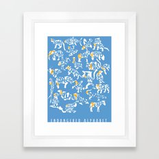 Alphabanimals Framed Art Print