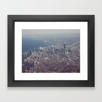 Chicago From The Sky Col… Framed Art Print