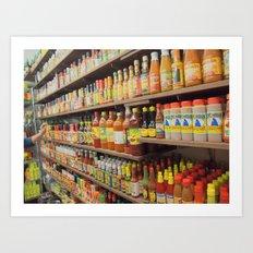 Hot Hot Sauce Art Print