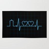 Two Heartbeats Rug