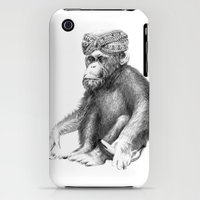 iPhone 3Gs & iPhone 3G Cases featuring MONKEY-Drawing by Annie0710