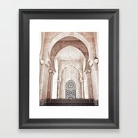Moroccan archway Framed Art Print