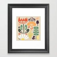 Scandinavian Wildflowers Framed Art Print