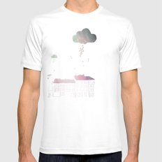 Ongi Etorri, rain Mens Fitted Tee SMALL White