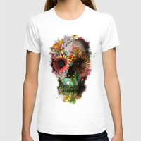 flower T-shirts featuring SKULL 2 by Ali GULEC