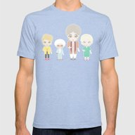 Golden Girls Mens Fitted Tee Tri-Blue SMALL