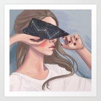 Inside Her Reflection... Art Print