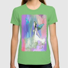 fairy of hope Womens Fitted Tee Grass SMALL