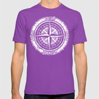 Compass Rose Mens Fitted Tee Ultraviolet SMALL