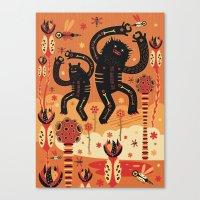 Les danses de Mars Canvas Print