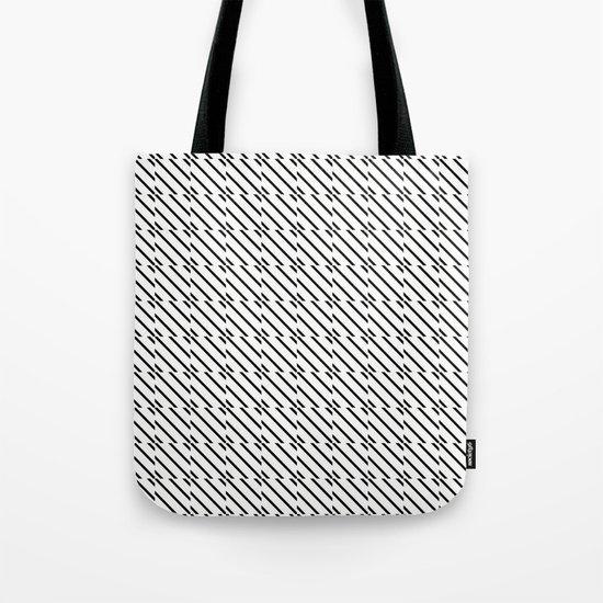IJzerman Black & White Pattern Tote Bag