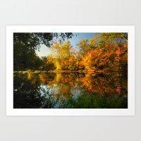 Fall On The Olentangy Ri… Art Print