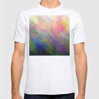 fire meditation pose Mens Fitted Tee Ash Grey SMALL