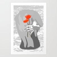 Poppy Back Art Print