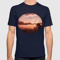 Dawn in the city V2 Mens Fitted Tee Navy SMALL