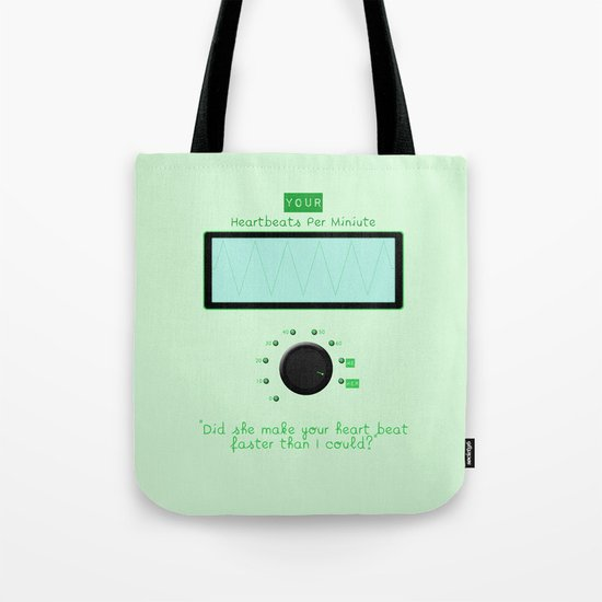 Heart beats per minute  Tote Bag