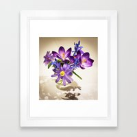 Flowers of love Framed Art Print