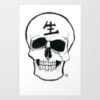 Skull - Live Art Print