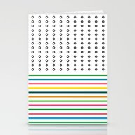 Stripes & Rings Stationery Cards