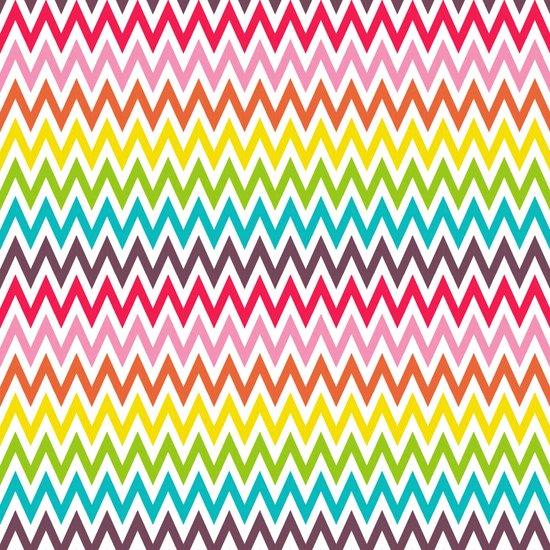Chevron Rainbow Art Print