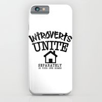 iPhone Cases featuring Introverts Unite! by Rendra Sy
