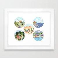 Campsite Selection Framed Art Print