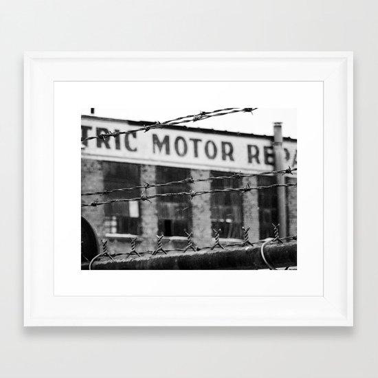 Abandoned Building in Detroit Framed Art Print