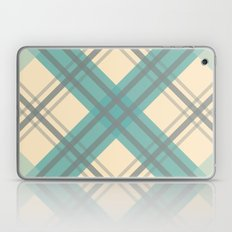 Teal Pastel Plaid Laptop & iPad Skin