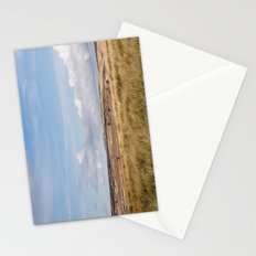 Blue sky and white clouds above sunlit moorland. Derbyshire, UK. Stationery Cards