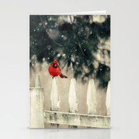 Snowy Day Cardinal Stationery Cards