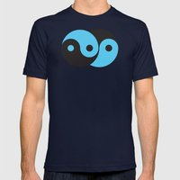Reflections of Yin and Yang Mens Fitted Tee Navy SMALL