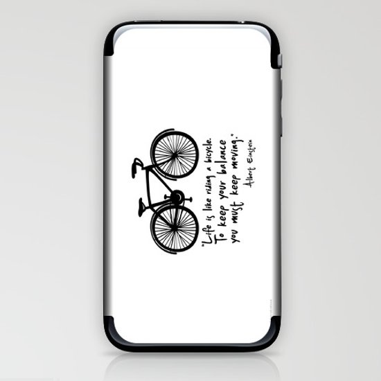 Life is like riding a bicycle... iPhone & iPod Skin