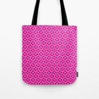 Pink Trefoil Tote Bag