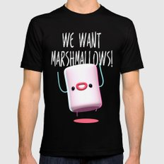 What do we want?? SMALL Black Mens Fitted Tee