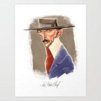 Lee Van Cleef Caricature Art Print