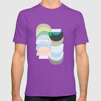 Pastel Geometry 3 Mens Fitted Tee Ultraviolet SMALL