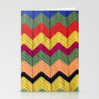 Rainbow Chevron Afghan Stationery Cards