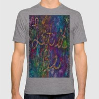 Let It Be Mens Fitted Tee Athletic Grey SMALL