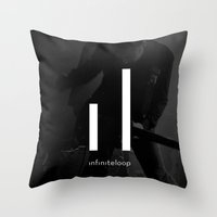 infiniteloop art Throw Pillow
