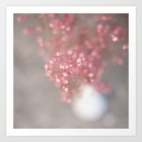 pink coral bells Art Print